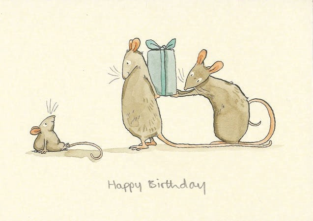 Happy Birthday Mice Card