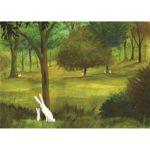 Bunnies In Forest Card