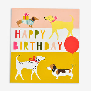 Puppies Happy Birthday Card