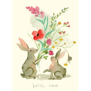 With Love Bunny Card