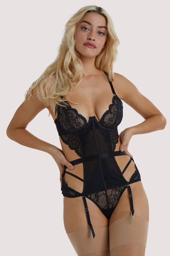 Wolf & Whistle Paola Black Lace Basque