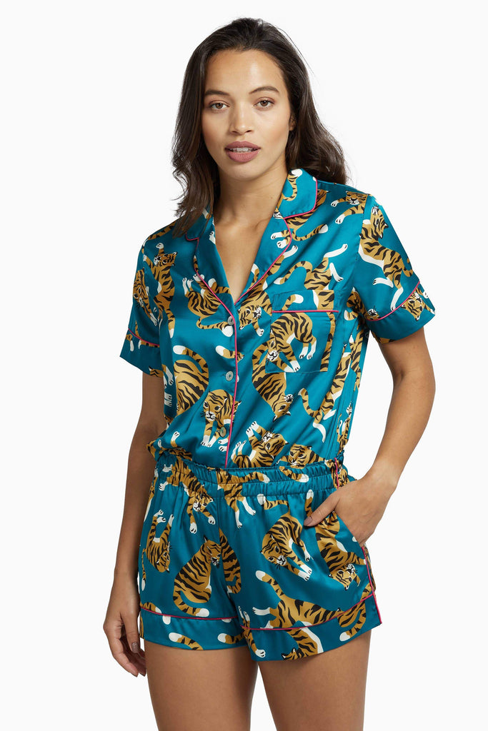 Kilo Brava Teal Tiger Pyjama Set