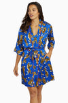 Kilo Brava Blue Tiger Short Robe