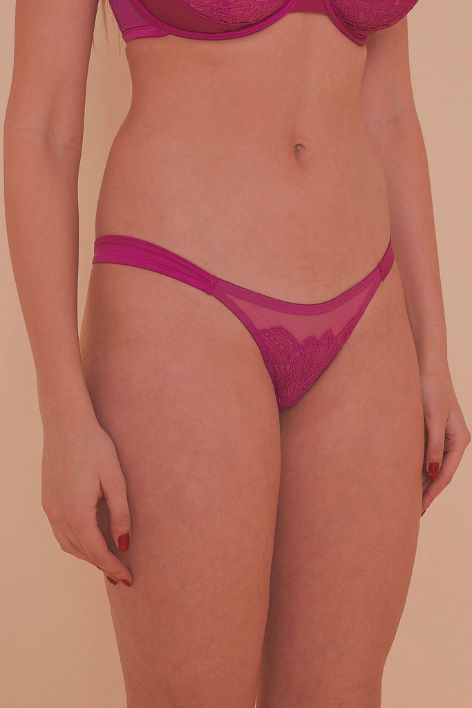 Arabella Satin Gathered strap Brief