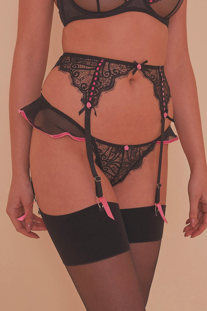 Monica Ribbon Slot Suspender Belt Core