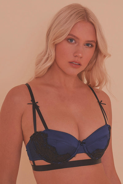 Tabitha Blue Embroidery Bra core A - D