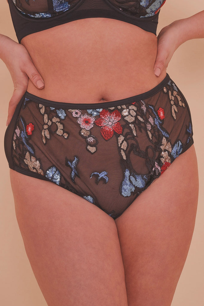 Felicity Hayward Elly Sequin Black HW Brief Curve
