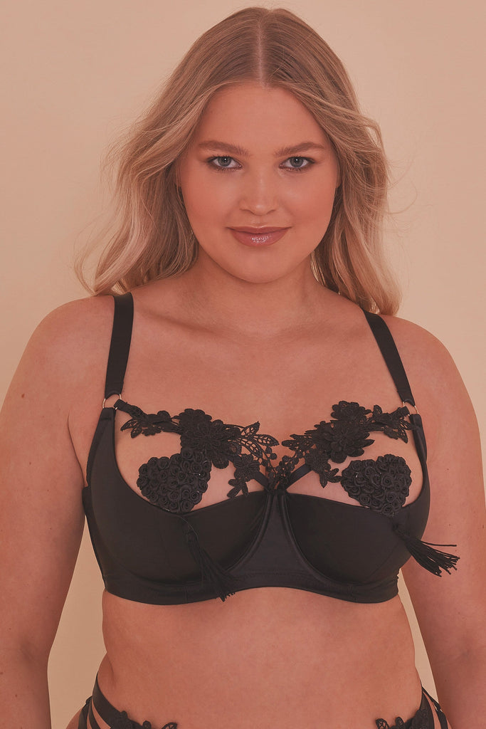 Virginia Guipure Quarter Cup Bra Curve
