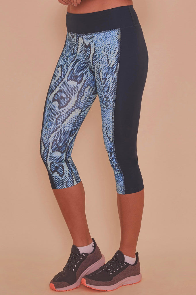 Wolf & Whistle Printed Crop Leggings Snake