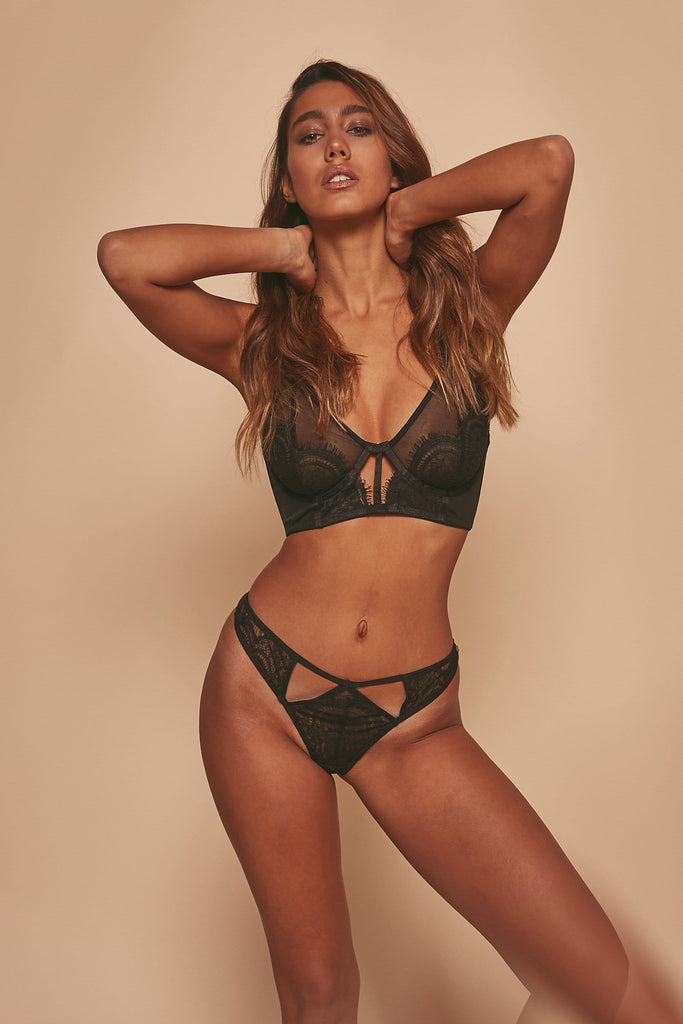Wolf & Whistle Layla Longline High Apex Eyelash Lace Bra
