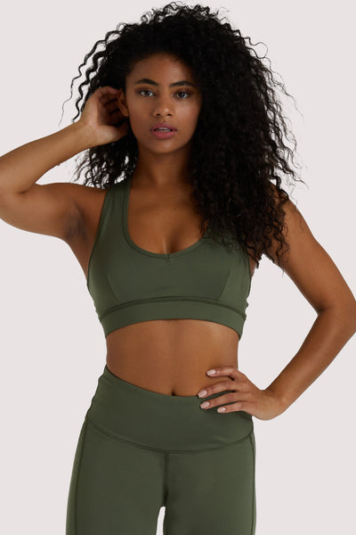 Wolf & Whistle Eco Dusty Olive Racer Back Bra