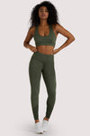 Wolf & Whistle Eco Dusty Olive Mesh Panel Leggings