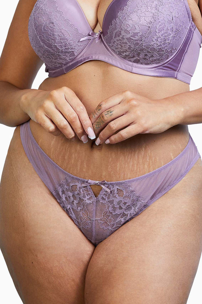 Deja Day Sophia Heather Purple Brazilian Brief