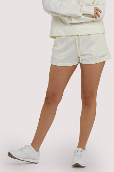 Wolf & Whistle Winter White Tie Waist Shorts