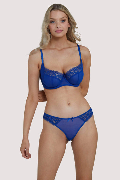 Deja Day Rosalyn Marine Blue Balcony Bra