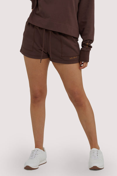 Wolf & Whistle Brown Tie Waist Shorts