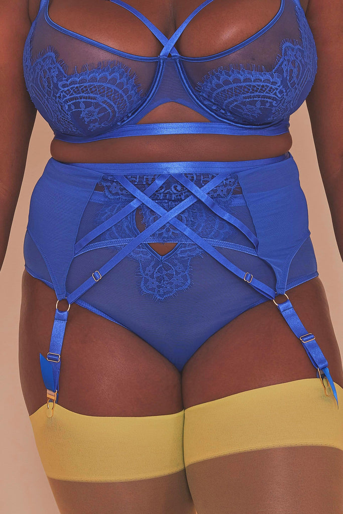 Gabi Fresh Lyla Strappy Cobalt Suspender Belt