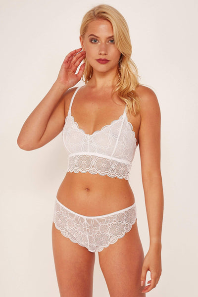 Wolf & Whistle Ariana lace White Bralette