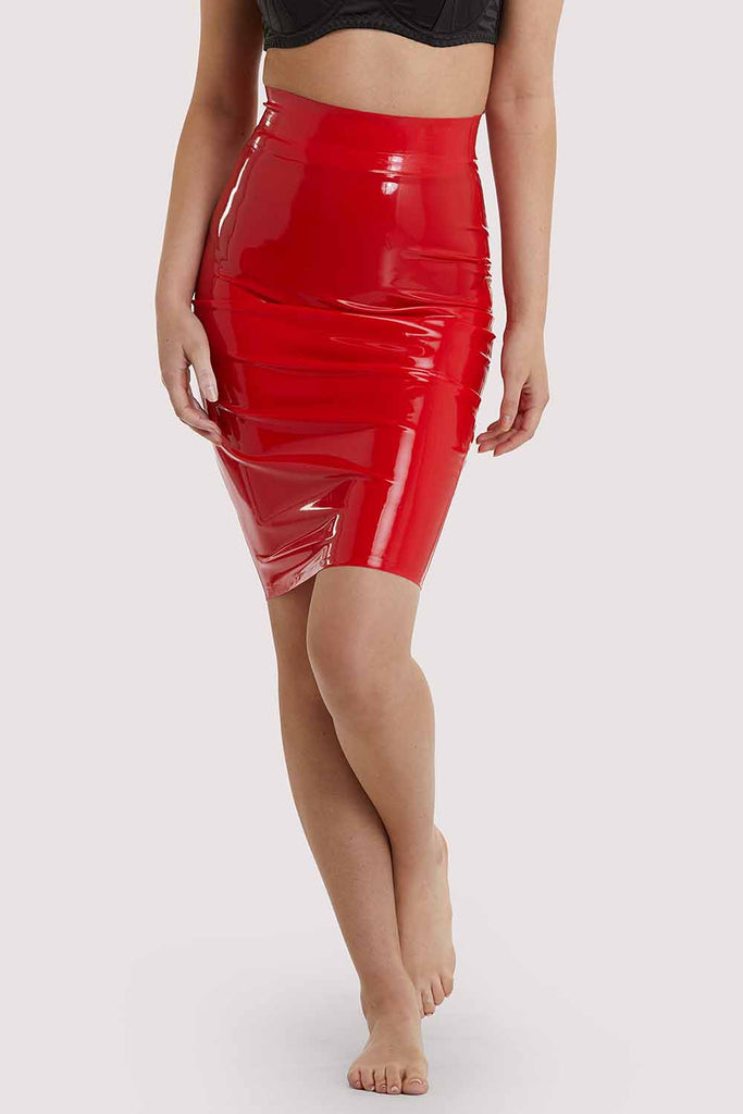 Bettie Page Latex Hobble Skirt