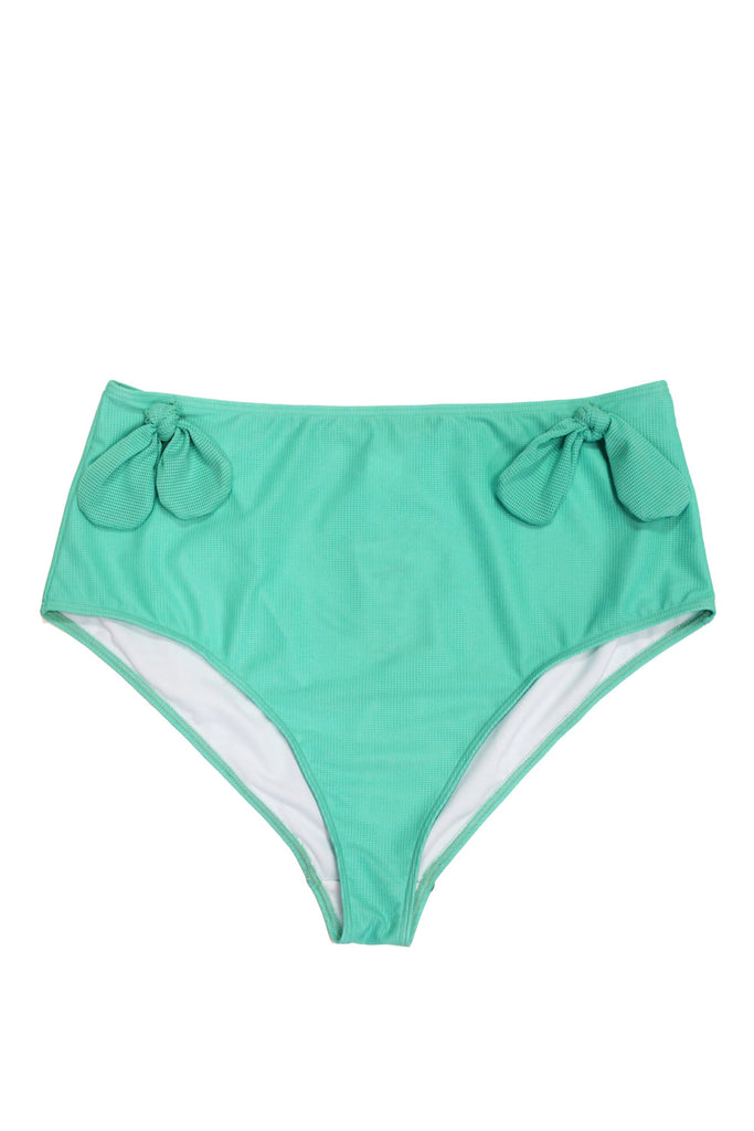 Wolf & Whistle Bunny tie high waist brief mint Curve