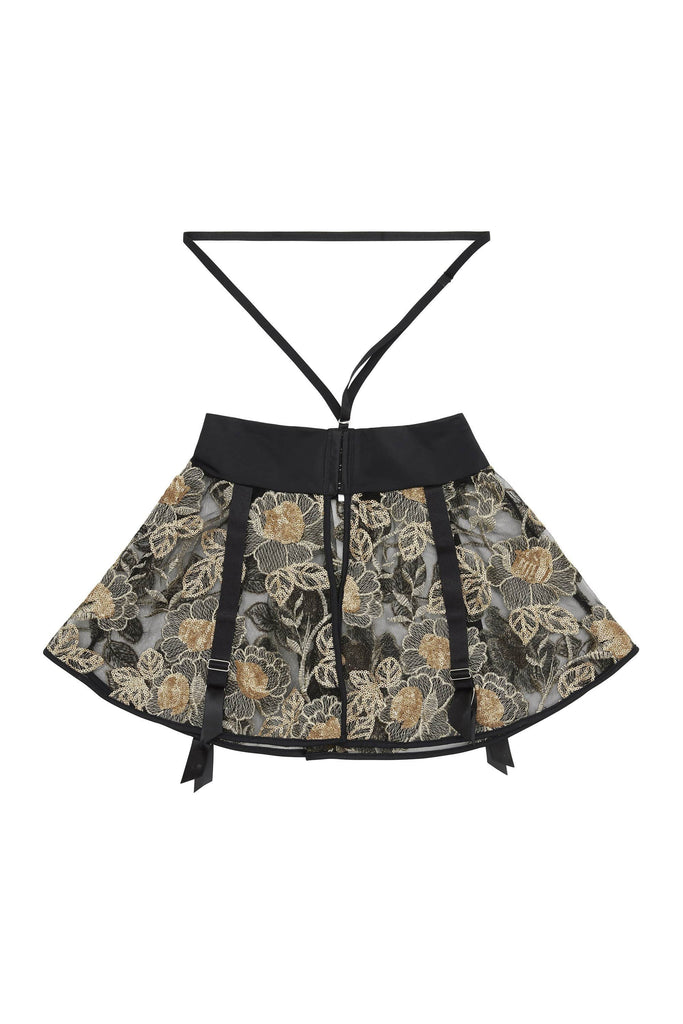 Peek & Beau Caia Gold Suspender Harness Skirt Sequin