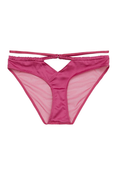 Peek & Beau Dani Magenta Strappy Satin Brief