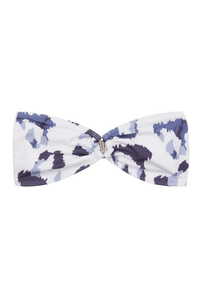 Wolf & Whistle Blue Eco Leopard Bandeau