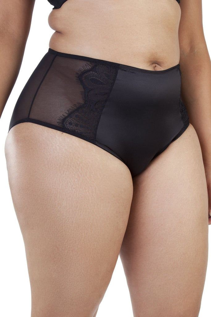 Gabi Fresh Holly Black HW Graphic Mesh Brief