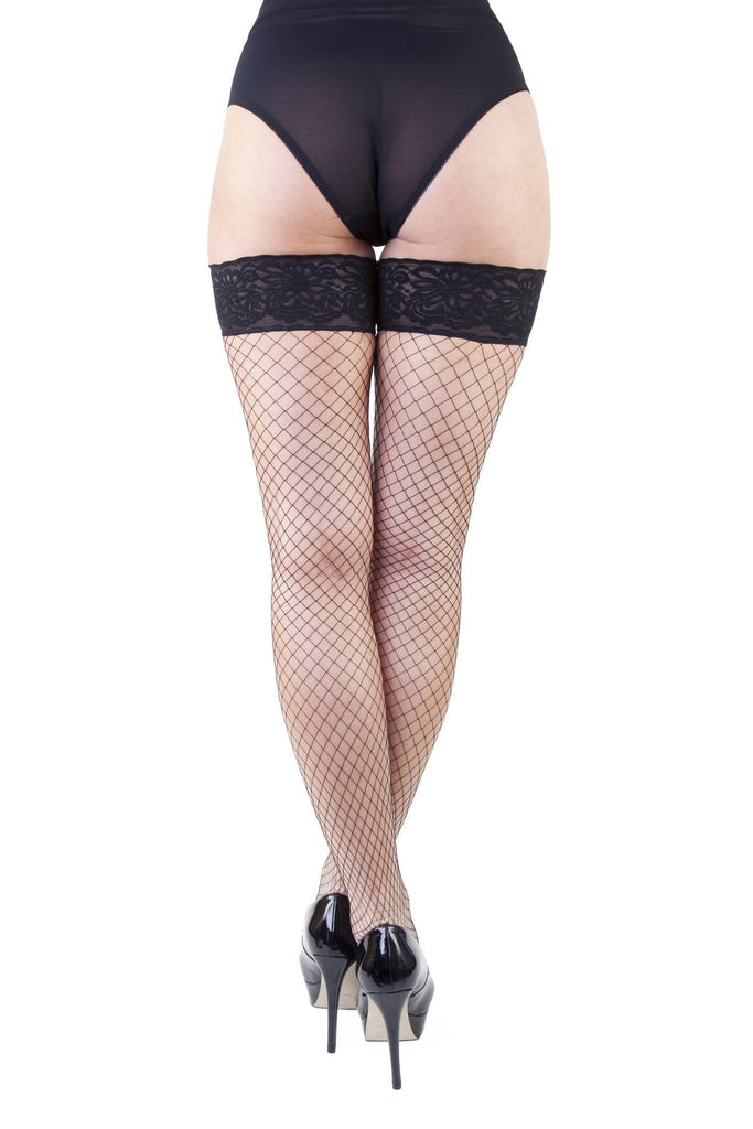 Bettie Page Oversize Fishnet Hold-ups