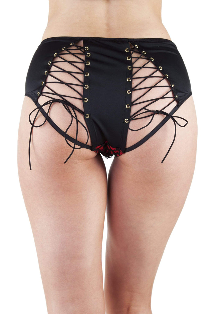 Peek & Beau Callie Red Fishnet High Waist Brief