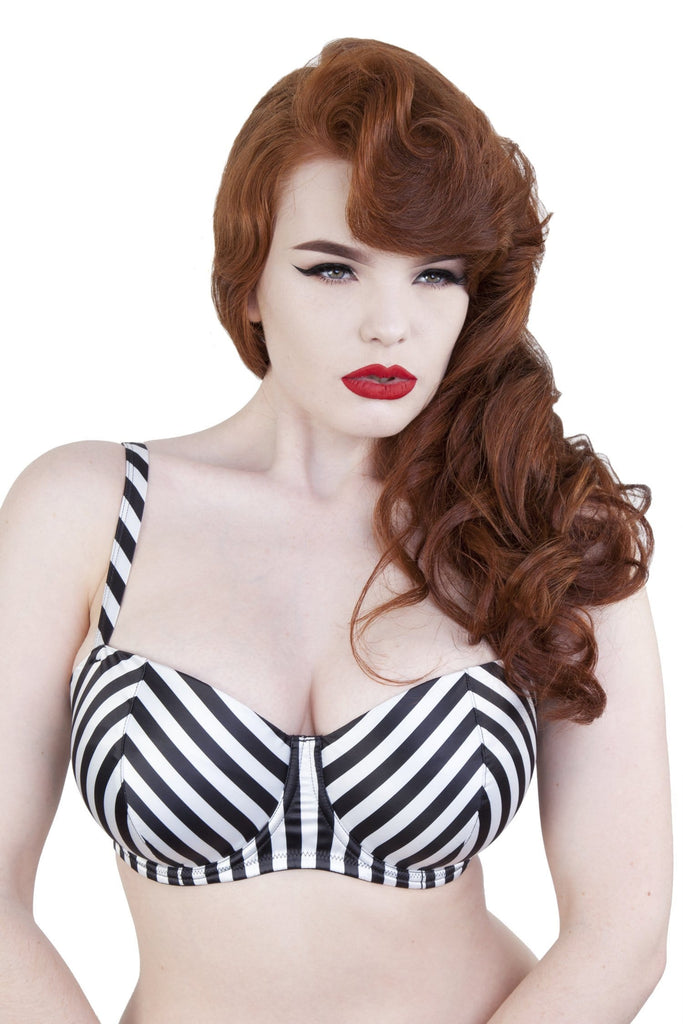 Beatrix Ivory Placement Stripe Demi Bra DD-G
