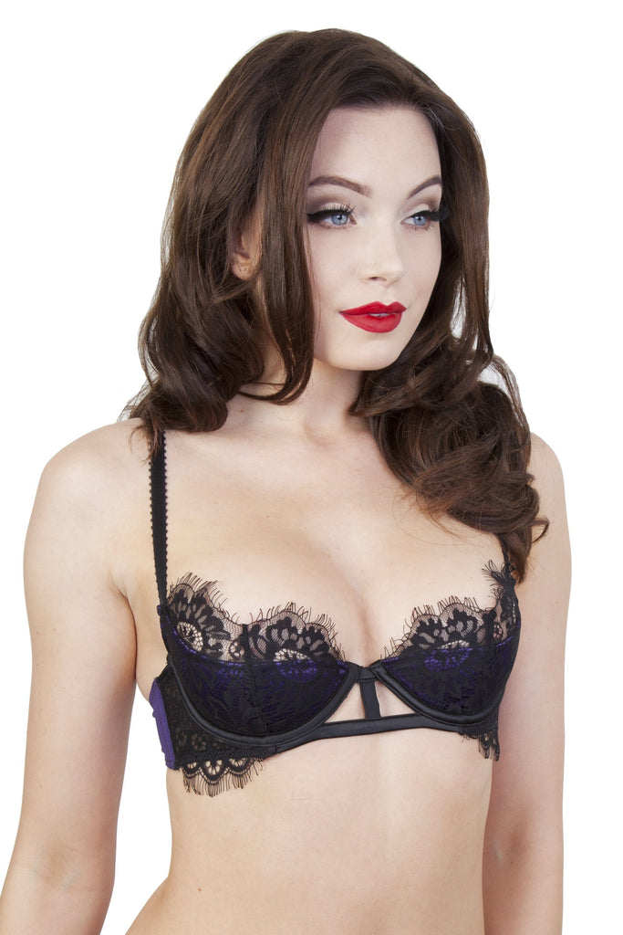 Sheba Purple Lace Bra A-D Cups