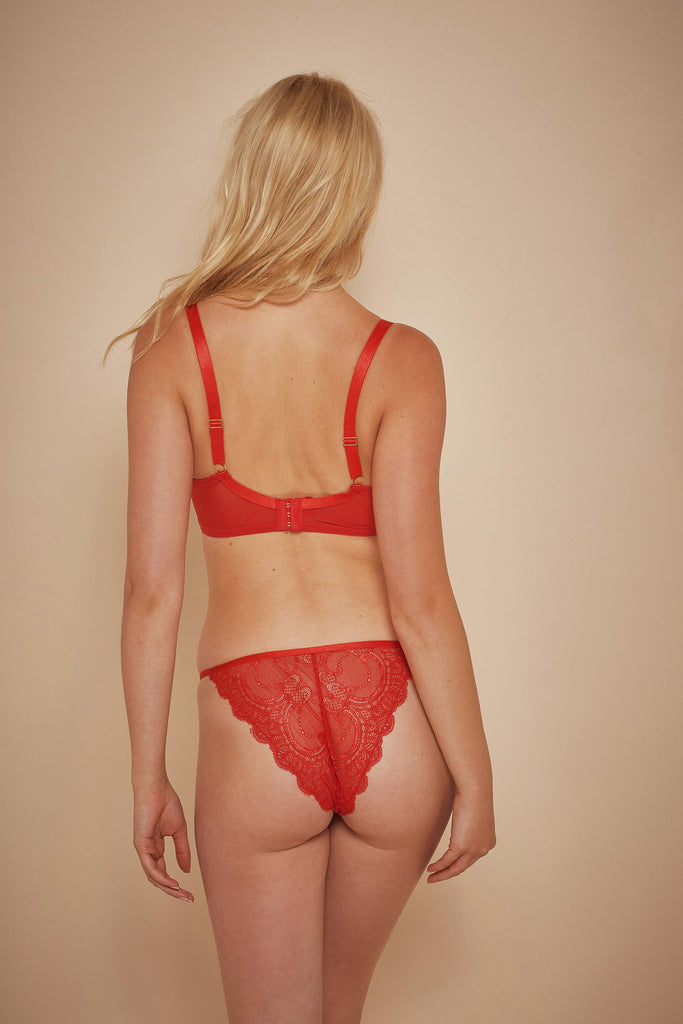 Wolf & Whistle Maribel Red Lace Brazilian Brief