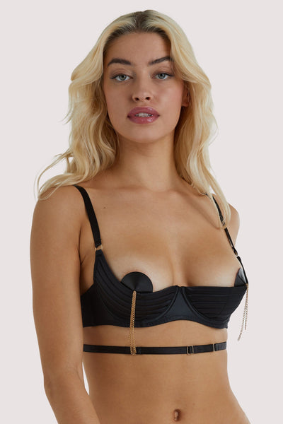 Playful Promises Sacha Black Quarter Cup Bra