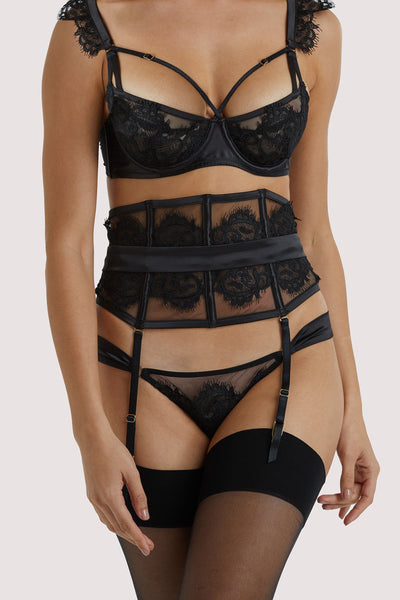 Playful Promises Anneliese Black Lace Waspie