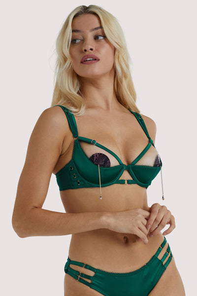 Playful Promises Ava 1/4 Cup Green Bra