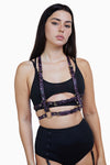 Regalia Chest Harness Purple Snake