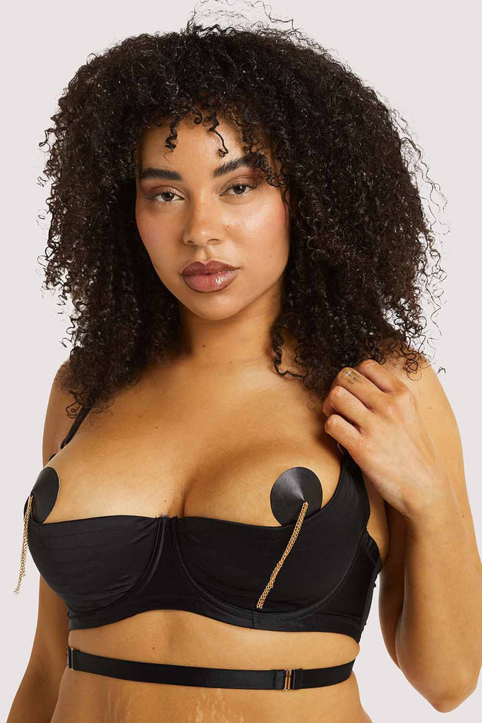 Playful Promises Sacha Black Quarter Cup Bra Curve
