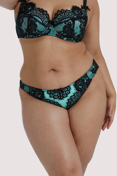 Playful Promises Jaquelina Mint Contrast Brazilian Brief Curve