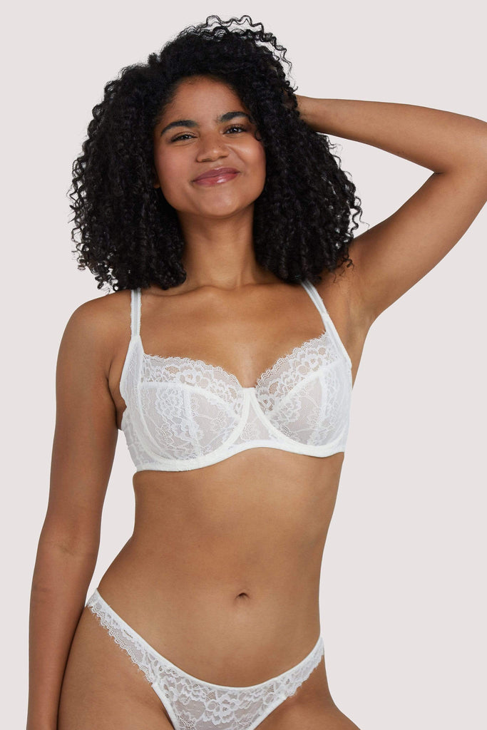Deja Day Rosalyn Ivory Full Coverage Bra