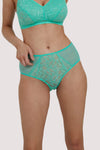 Deja Day Emma Mint Green High Waist Brief