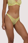 Deja Day Grace Lemon Yellow Thong