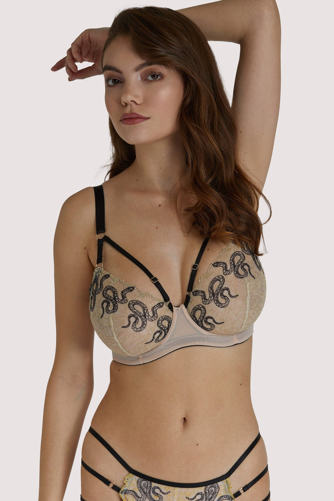 Dakota Snake High Apex Bra with Overbust Straps Fuller Bust