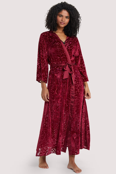 FFFB Wine Devore Gown
