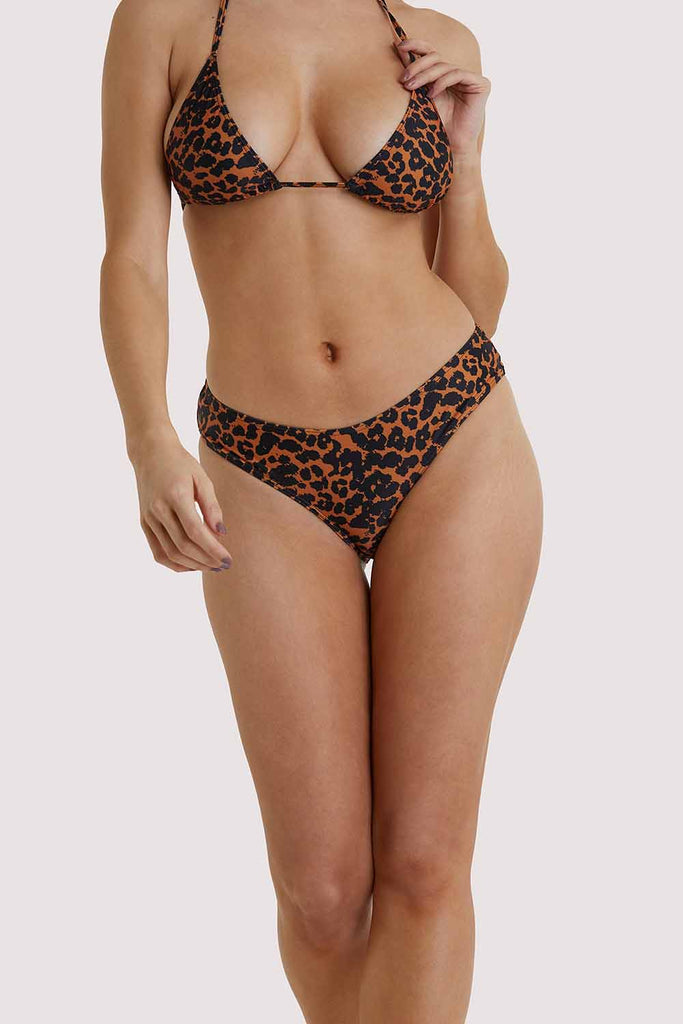 Hustler Leopard Bikini Shortie Brief