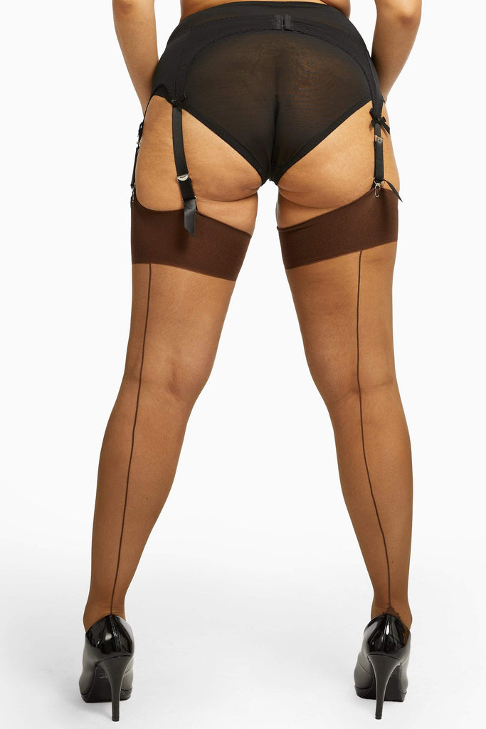 Seamed Stocking Dark Nude