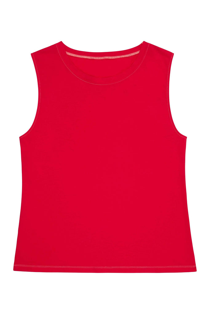 Wolf & Whistle Cotton Knot Front Vest Red Curve