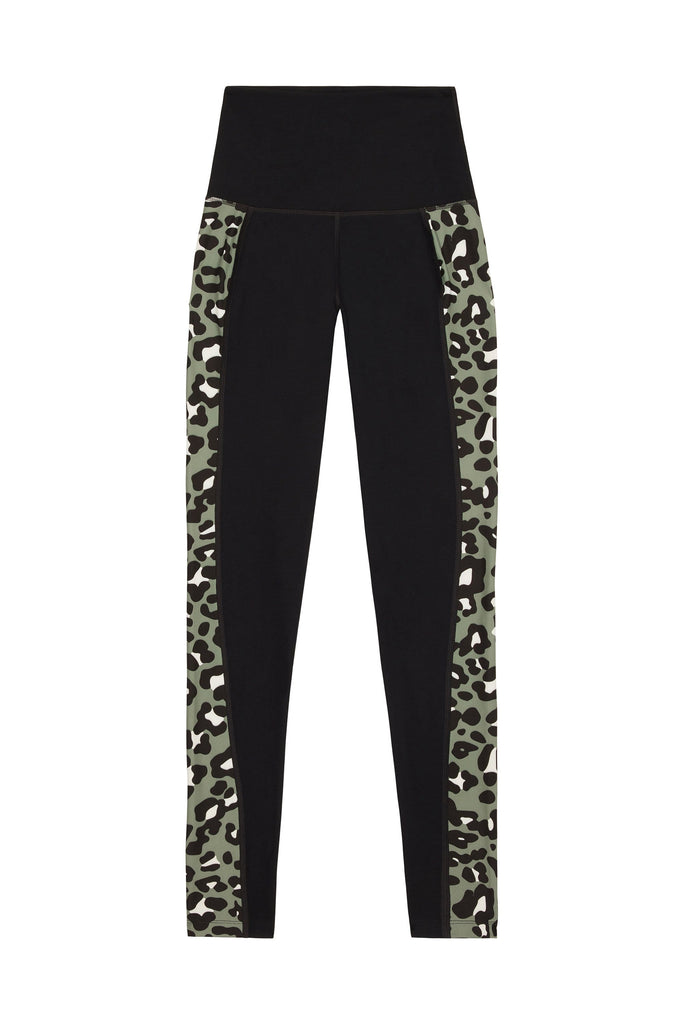 Wolf & Whistle High Waist Panelled Leggings Leopard Curve