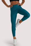 Wolf & Whistle Teal Wet Look Croc Leggings