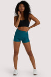 Wolf & Whistle Teal Wet Look Shorts